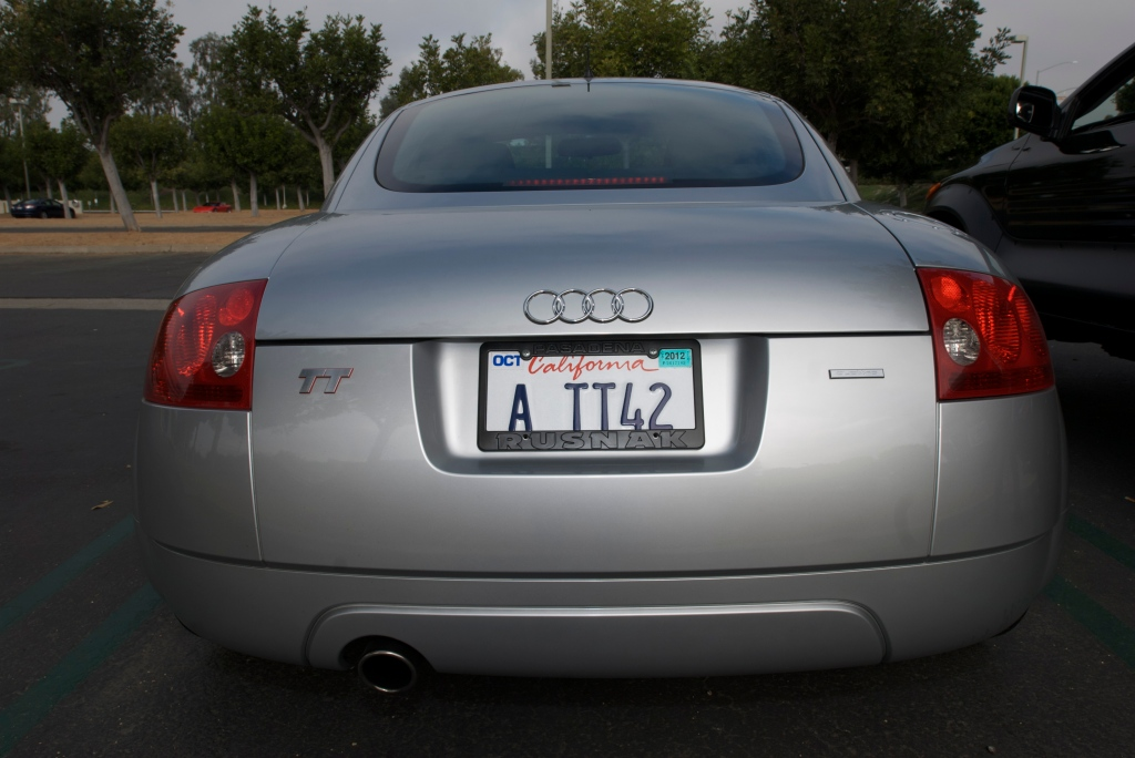 Silver 2000 Audi TT quattro_w/personalized plate_Cars&Coffee/Irvine_1/7/12