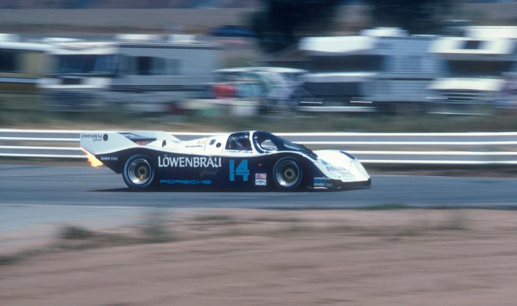 Al Holbert #14 Lowenbrau Porsche 962_riverside Raceway_Apr 86