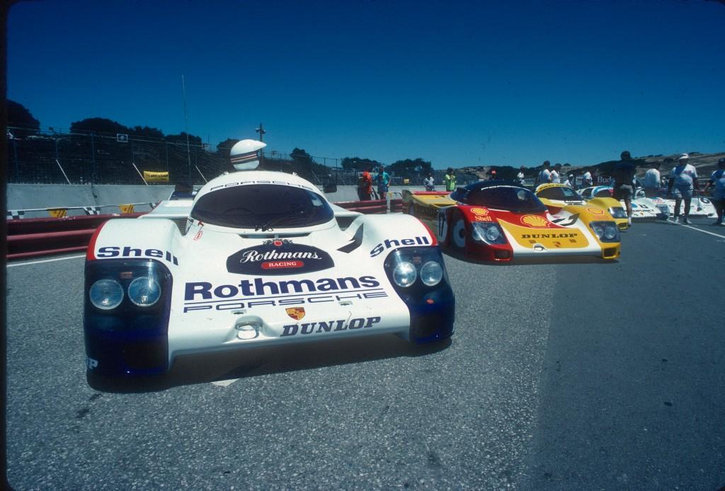 Porsche 956's_Monterey Historics_Laguna Seca Raceway_Jul90