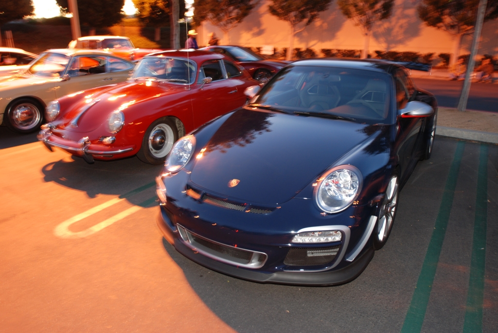 2011 Blue GT3 RS4.0 & red Porsche 356 coupe_Cars&Coffee/Irvine_2/4/12