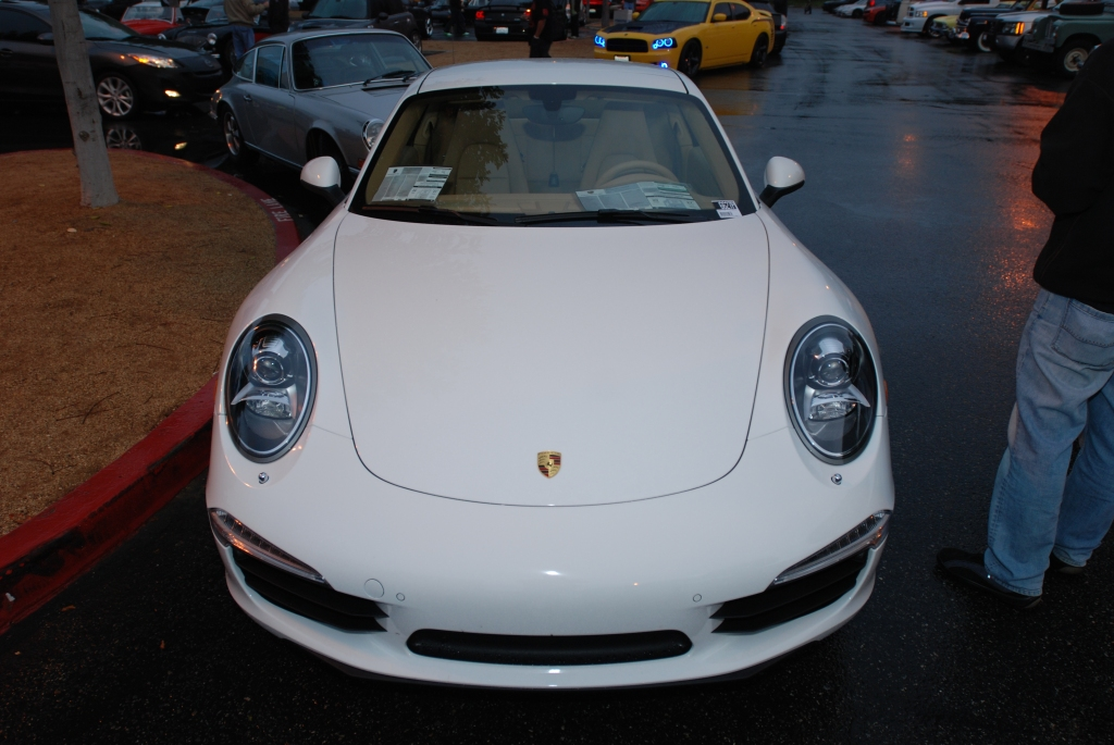 White 2012 Porsche 911 Carrera S (type 991)_front end_Cars&Coffee/Irvine_2/11/12