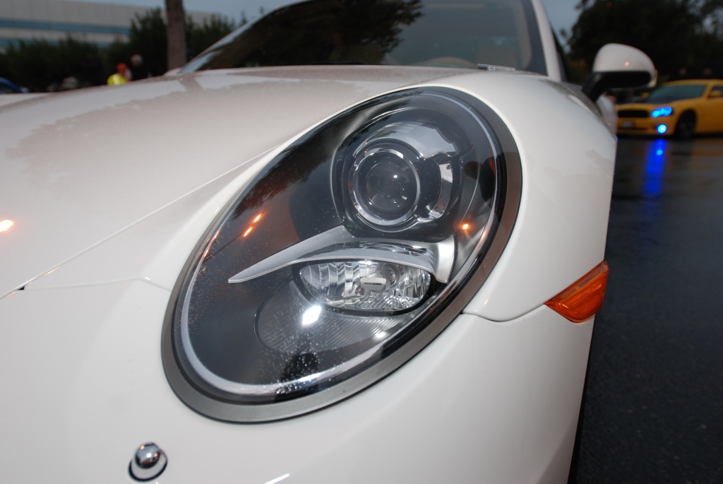 2012 Porsche 911 Carrera S (type 991)_headlight detail_Cars&Coffee/Irvine_2/11/12