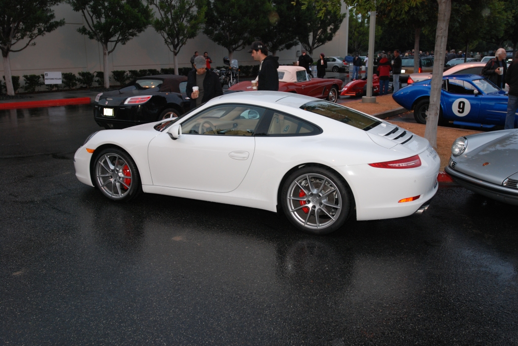 White 2012 Porsche 911 Carrera S (type 991)_side shot_Cars&Coffee/Irvine_2/11/12