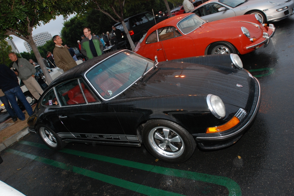 Black Porsche 911S coupe_raindrop covered_Cars&Coffee/Irvine_2/11/12