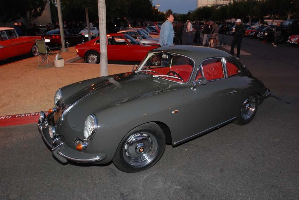Gray & red Porsche 356 coupe_Cars&Coffee/Irvine_2/4/12