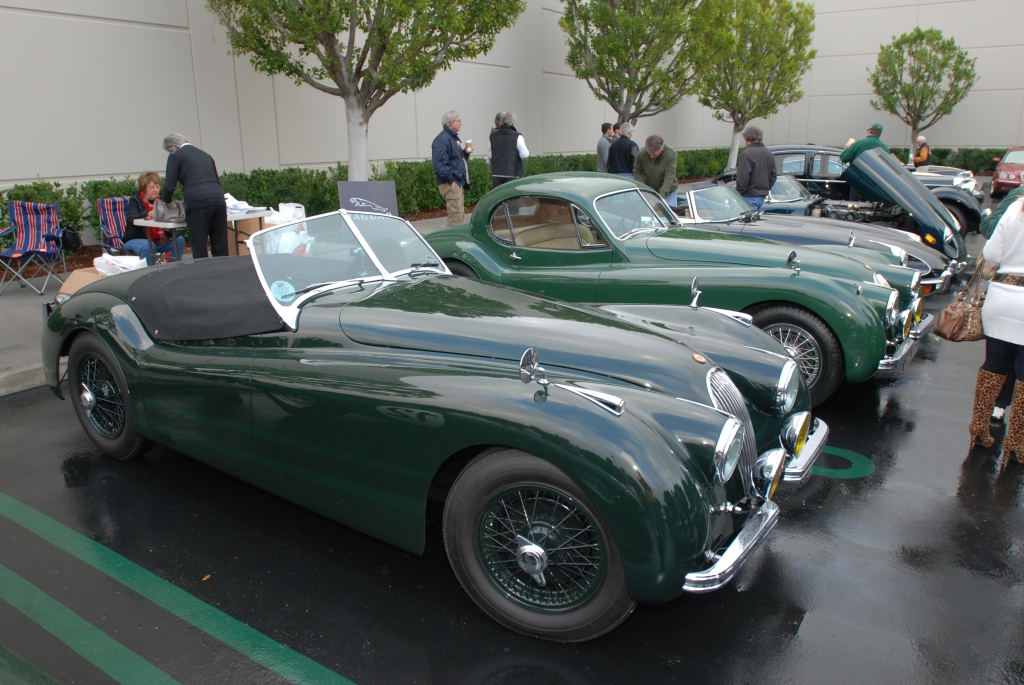 Dark Green Jaguar XK roadster with black tonneau cover_Cars&Coffee/Irvine_2/11/12