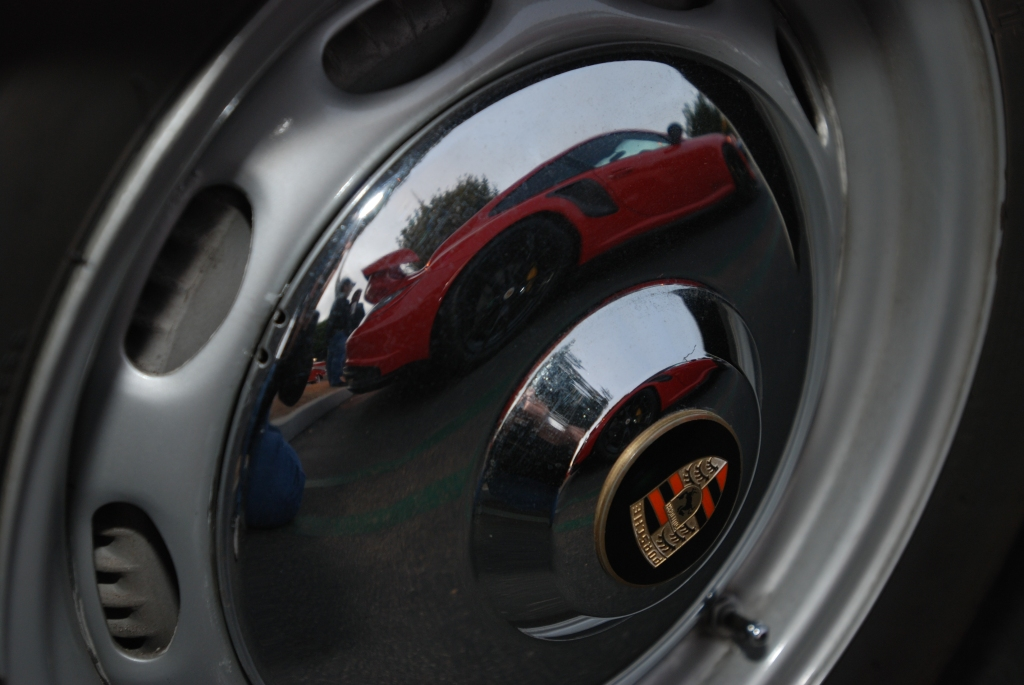 Porsche 356 _hubcap reflection_Cars&Coffee/Irvine_2/18/12