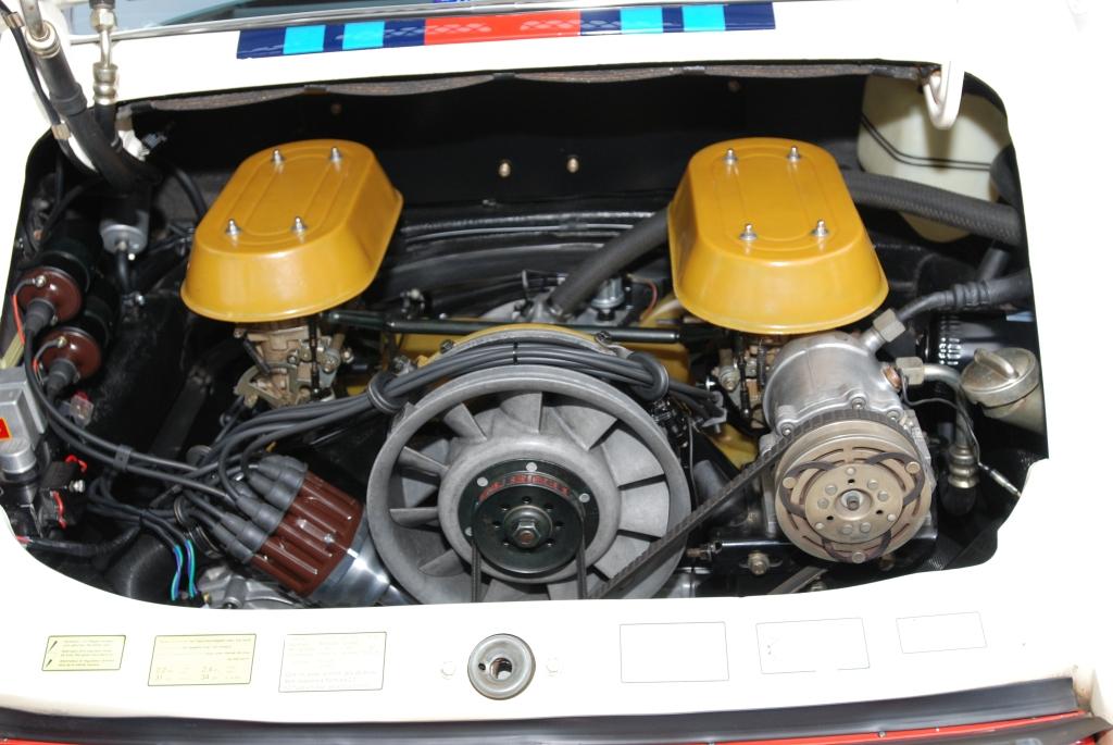 White 1970 911 with Martini stripes_twin plug motor_Cars&Coffee/Irvine_2/25/12