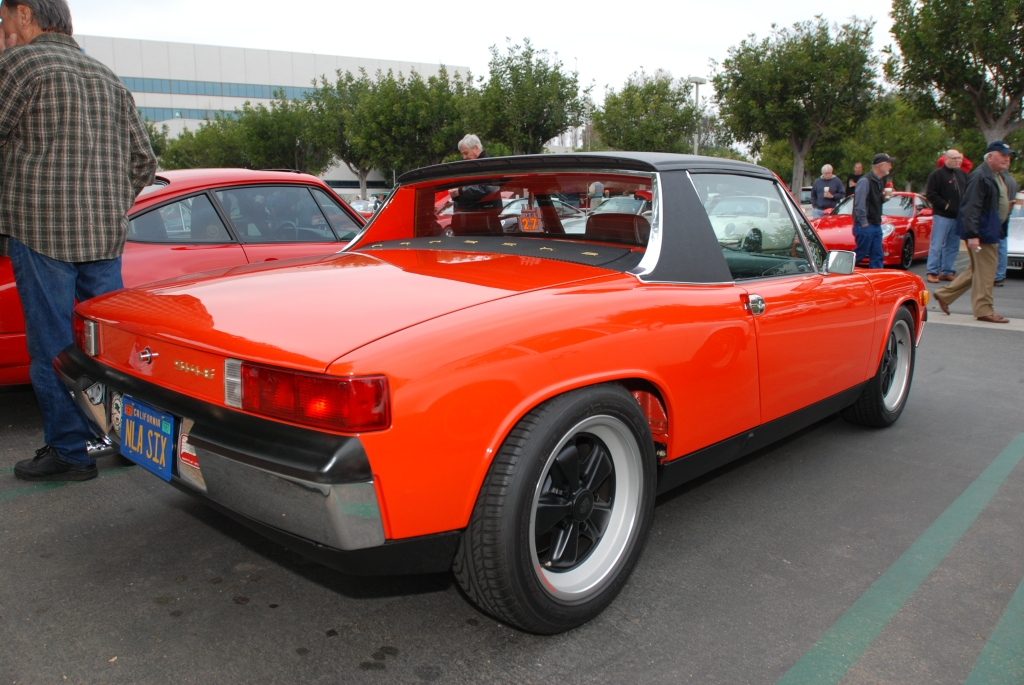 Blood orange Porsche 914/6_Cars&Coffee/Irvine_2/25/12