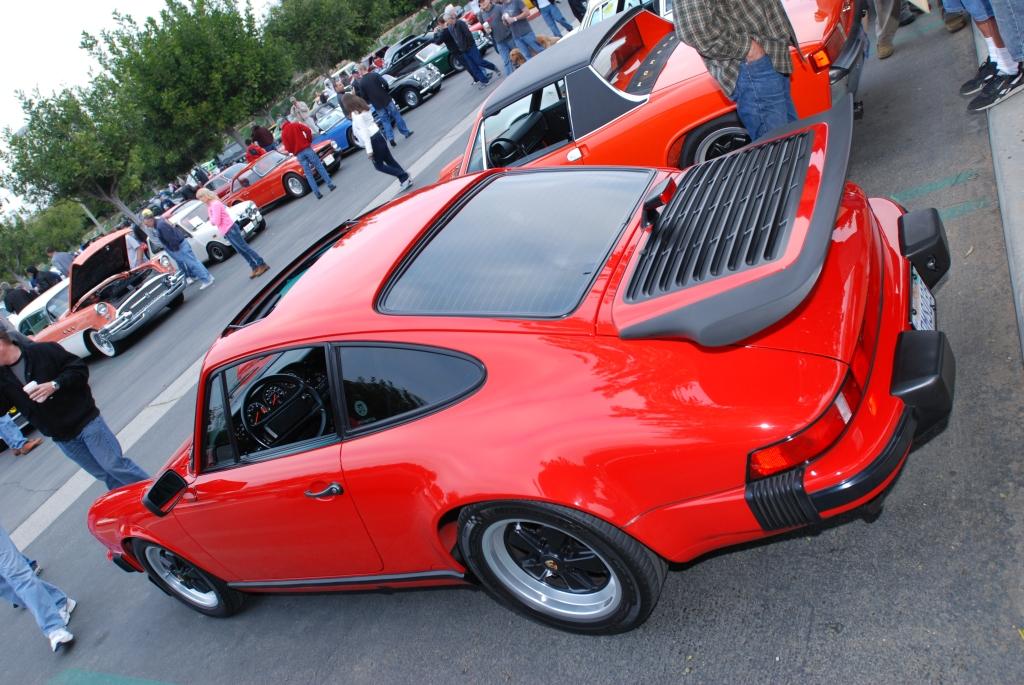 Red 1987 Porsche Carrera 3.2_Cars&Coffee/Irvine_2/25/12