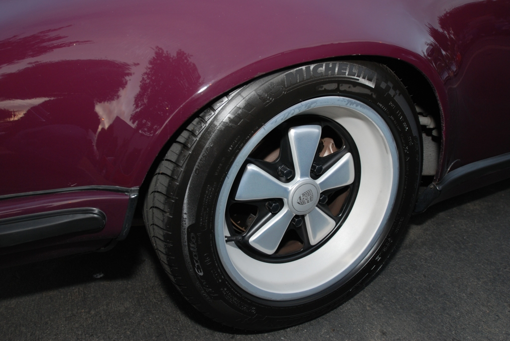 Aubergine 1973 Porsche 911RS recreation_rear wheel_Cars&Coffee/Irvine_2/18/12