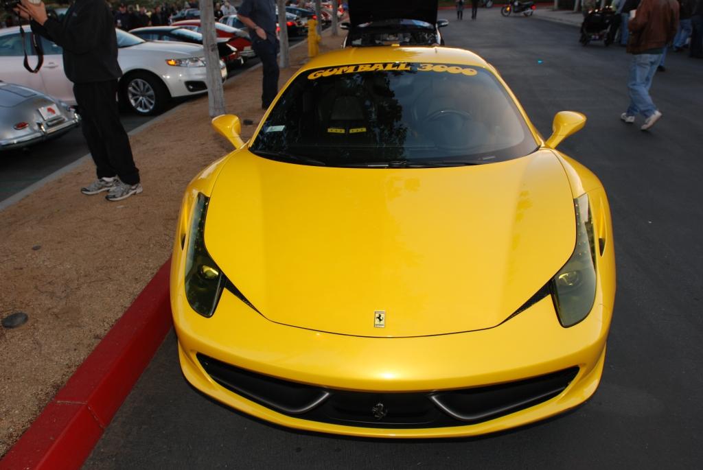 Yellow Ferrari 458 Italia_Cars&Coffee/Irvine_2/4/12