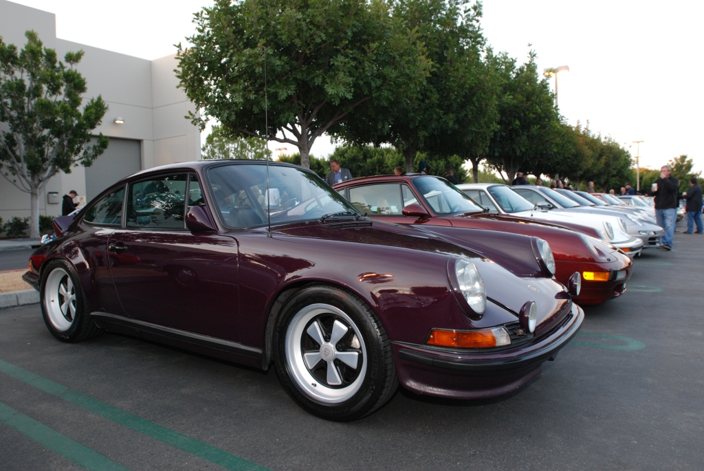 Aubergine 1973 Porsche 911RS recreation_Porsche row_Cars&Coffee/Irvine_2/18/12