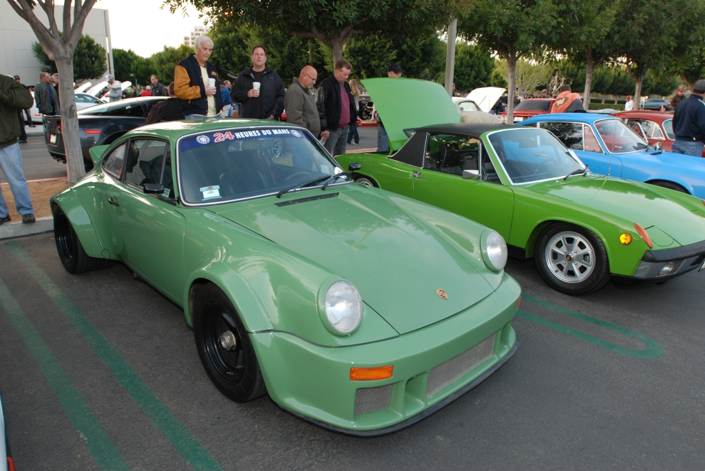 Leaf Green Porsche 930 turbo RSR /934 recreation_Cars&Coffee/Irvine_2/18/12
