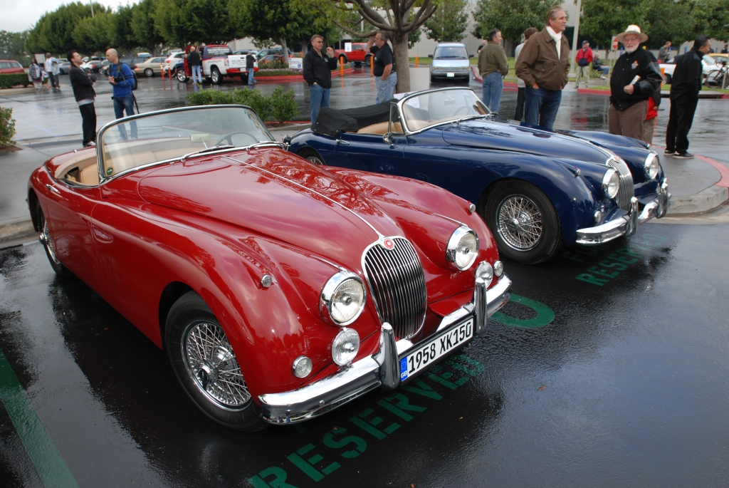 Red & Blue, Jaguar XK 150 roadsters_Cars&Coffee/Irvine_2/11/12