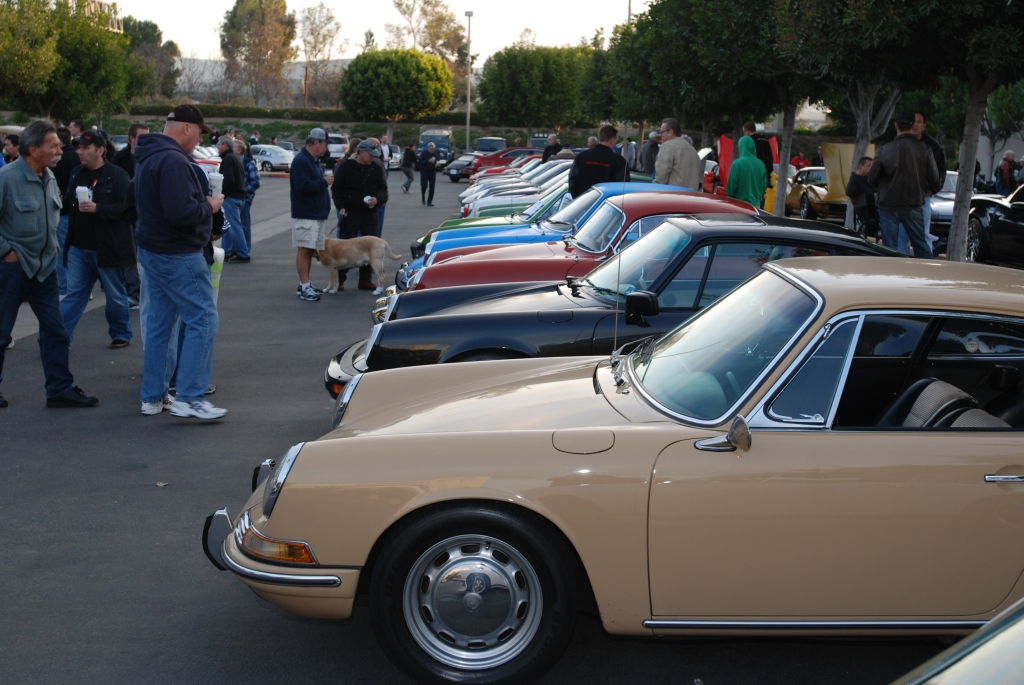 Porsche row_Cars&Coffee/Irvine_2/18/12