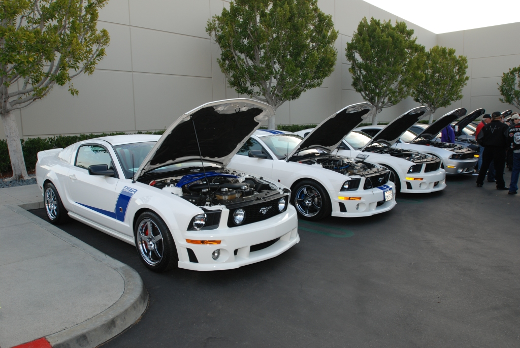 White Roush mustangs_Cars&Coffee/Irvine_2/18/12