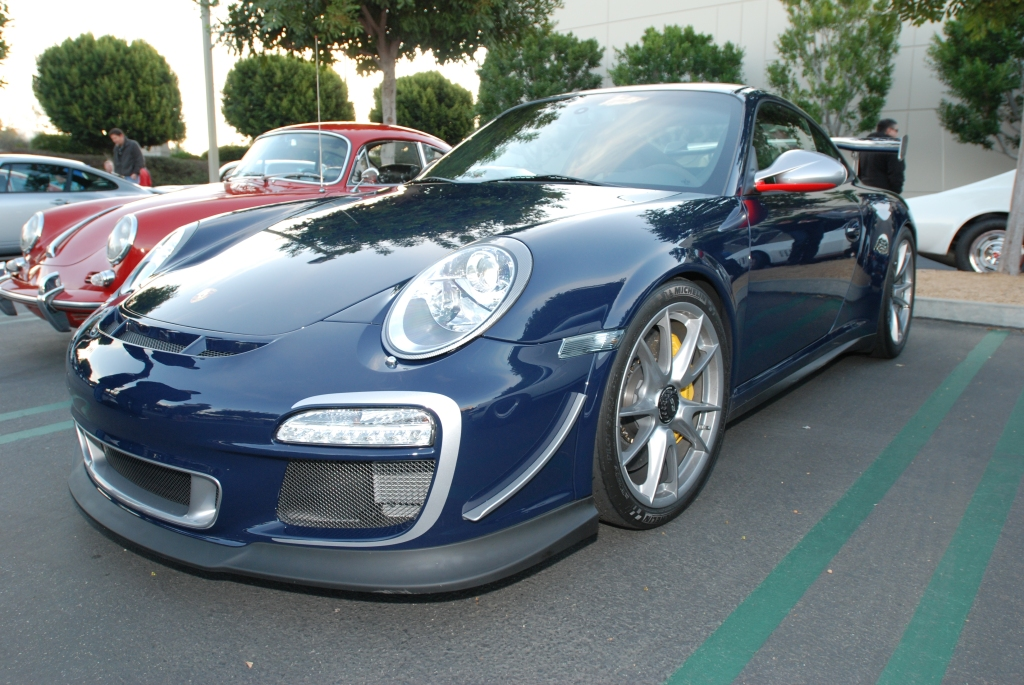 Dark blue 2011 Porsche GT3 RS4.0_reflections_Cars&Coffee/Irvine_2/4/12