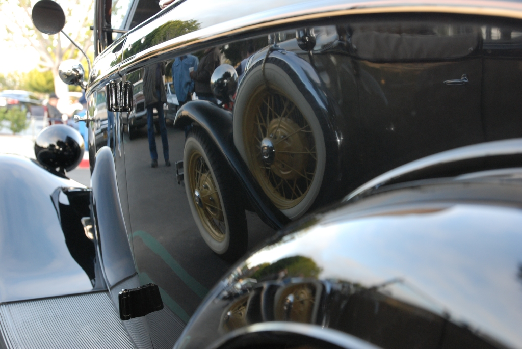 Black 1933 Ford roadster_reflections_Cars&Coffee/Irvine_2/181/12