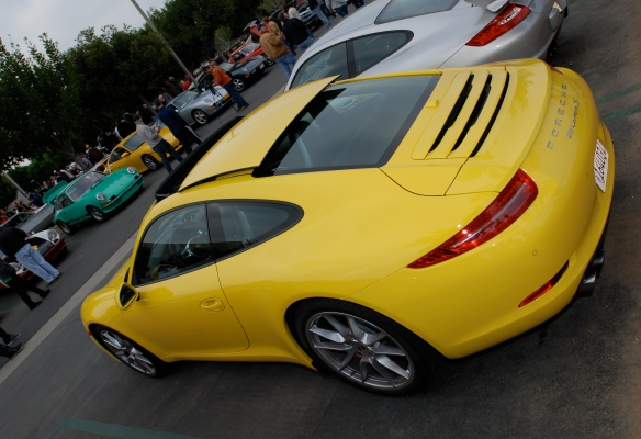 Yellow 2012 Porsche 911 Carrera S (type 991)_Cars&Coffee/Irvine_2/25/12