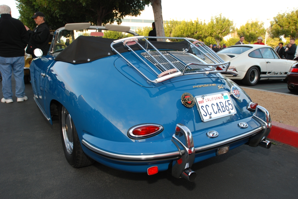 Blue 1965 Porsche 356 SC cabriolet_Cars&Coffee/Irvine_2/18/12