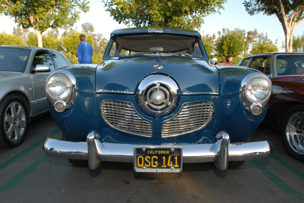 1951 Blue Studebaker Champion_front view_Cars&Coffee/Irvine_2/18/12