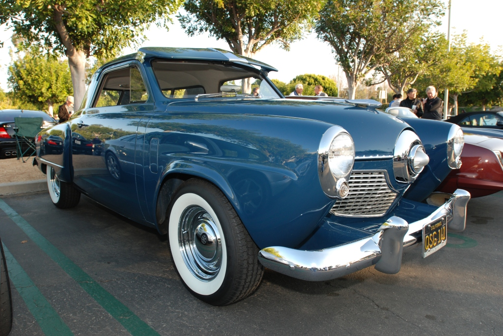 1951 Blue Studebaker Champion_3/4 front view_Cars&Coffee/Irvine_2/18/12
