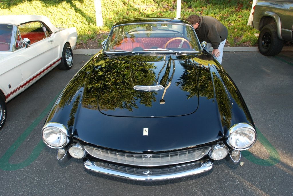 Black Ferrari 250GT Lusso_reflections_Cars&Coffee/Irvine_2/4/12