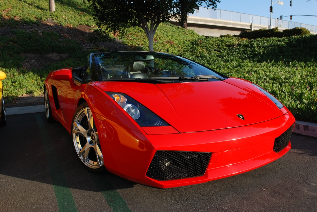 Red Lamborghini Gallardo Spyder_Cars&Coffee/Irvine_2/18/12