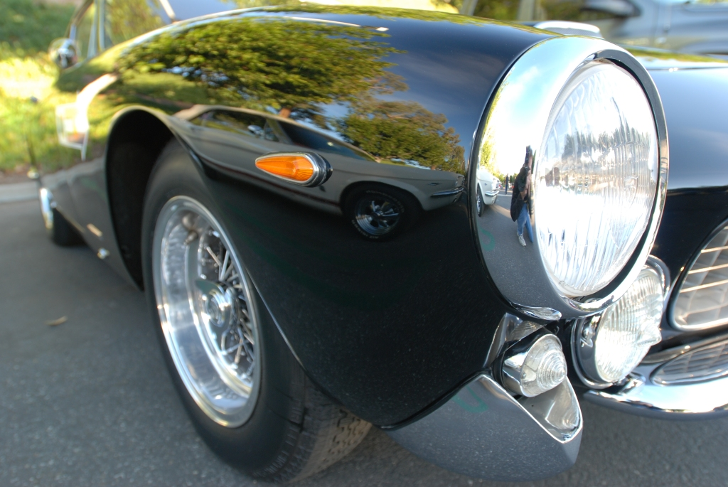 Black Ferrari 250GT Lusso_fender reflection_Cars&Coffee/Irvine_2/4/12