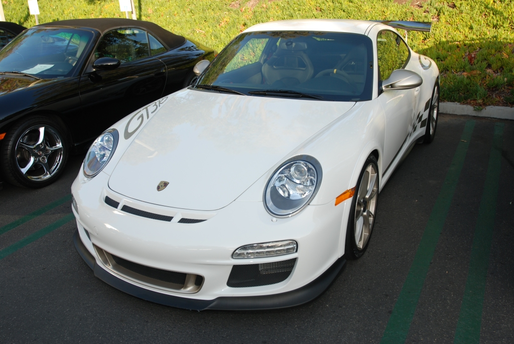 White Porsche GT3RS_titanium colored graphics_Cars&Coffee/Irvine_2/18/12