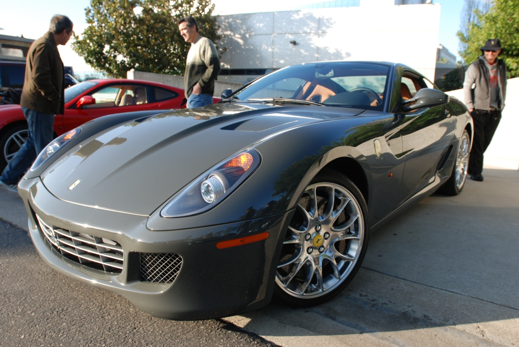 Gray Ferrari 599_3/4 front view_Cars&Coffee/Irvine_2/18/12