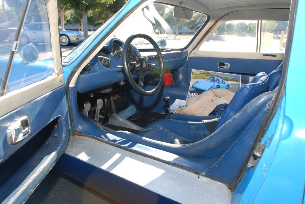 Blue 1964 Porsche 904 GTS_#904-002_door & interior shot_Cars&Coffee/Irvine_2/4/12