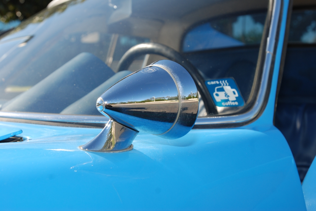 Blue 1964 Porsche 904 GTS_ #904-002_side mirror reflection_Cars&Coffee/Irvine_2/4/12