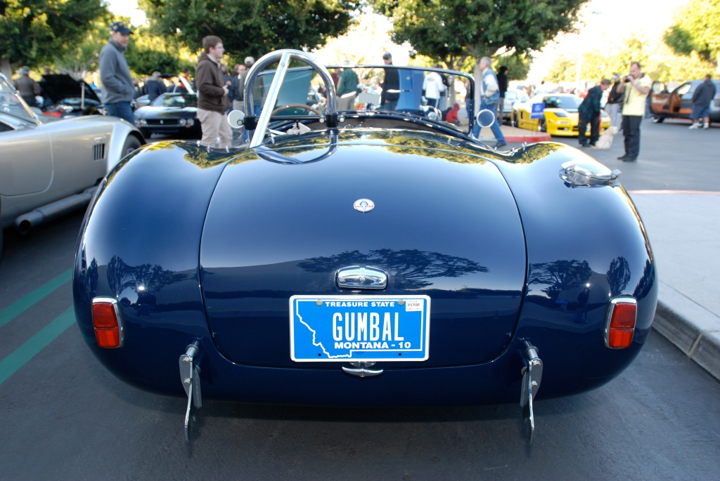 1966/67 427 Shelby Cobra_Guardsman Blue_rear view & reflections_Cars&Coffee/Irvine_3/3/12