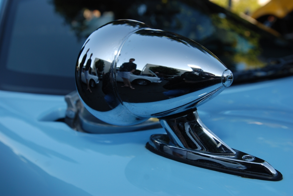 A second Gulf colored Ford GT_fender mounted mirror reflections_Cars&Coffee/Irvine_3/3/12