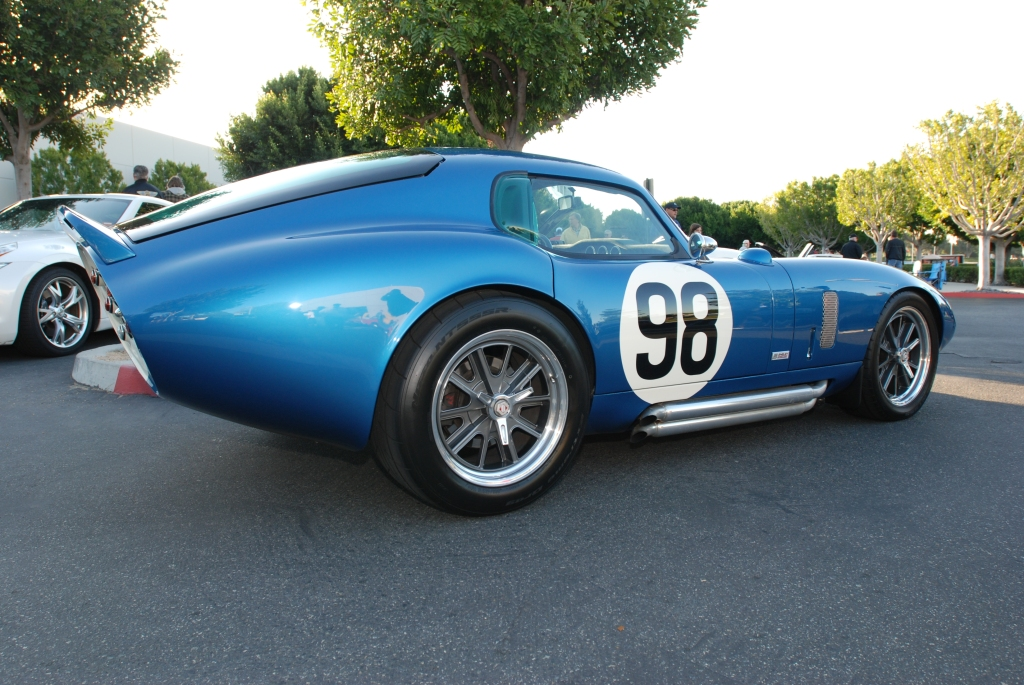 Blue Shelby Daytona coupe_reflections_Cars&Coffee/Irvine_3/10/12