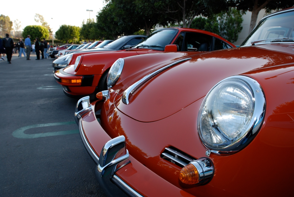 Porsche Row__356 in foreground/reflections_Cars&Coffee/Irvine_3/10/12