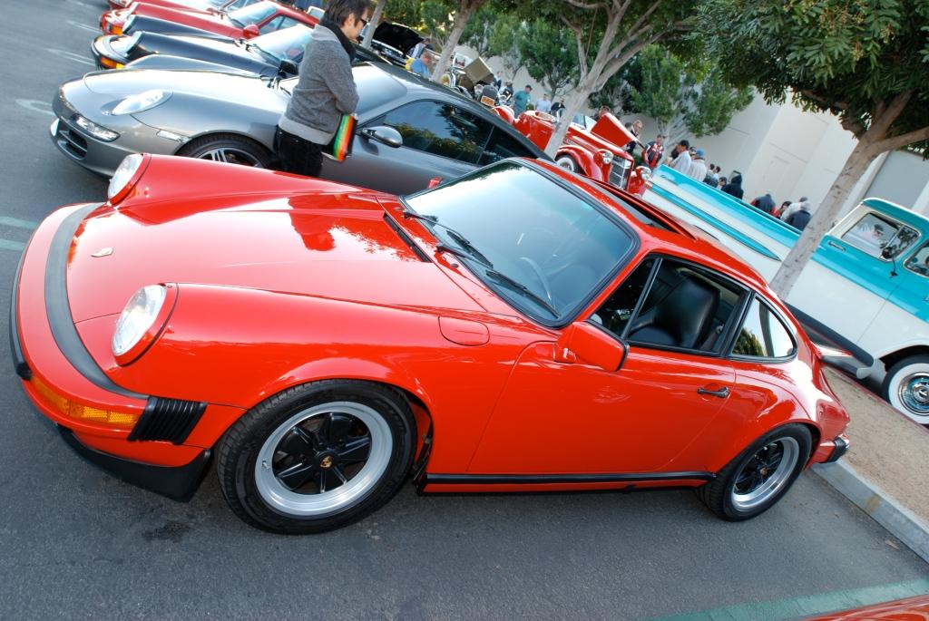 Red 1987 Porsche Carrera__reflections_Cars&Coffee/Irvine_3/10/12