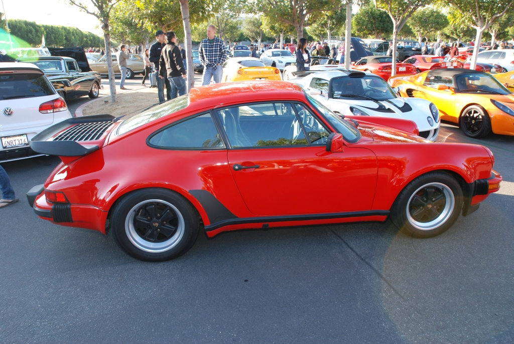 India Red Porsche 930 Turbo_Cars&Coffee/Irvine_2012