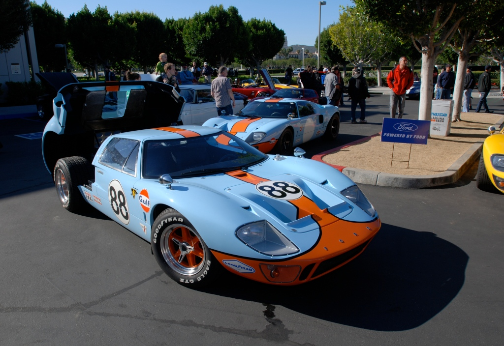 Gulf color schemed #88 Ford GT_Cars&Coffee/Irvine_3/3/12