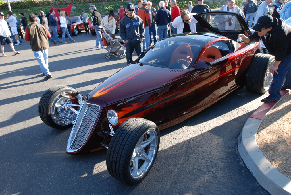 Chip Foose_HemiSFear_3/4 front view_Cars&Coffee/Irvine_3/10/12