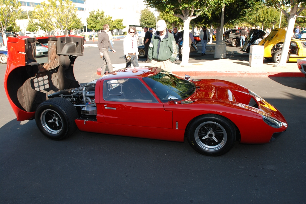 Red Ford GT with black center wheels_side view_Cars&Coffee/Irvine_3/3/12