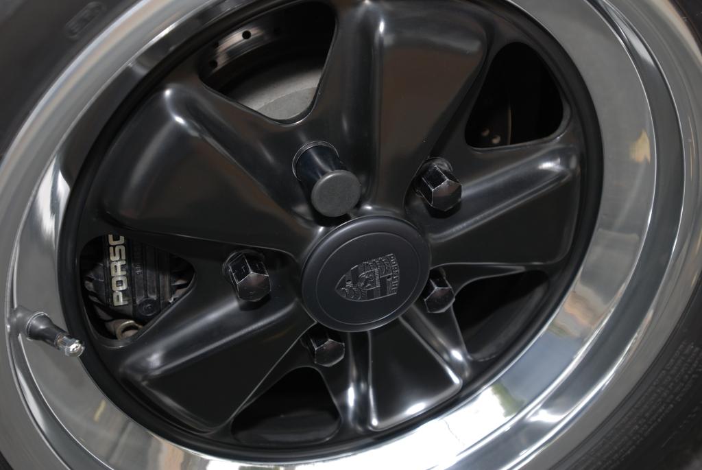 1987 Black Porsche 930 turbo_8 inch factory alloy wheel_Cars&Coffee/Irvine_3/24/12