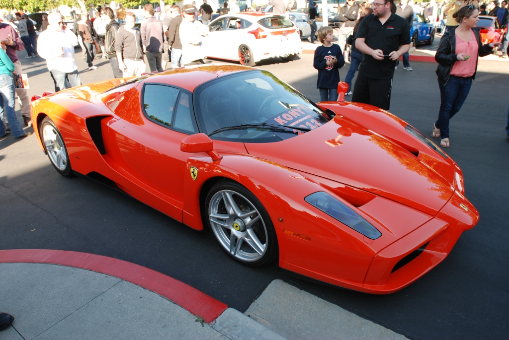 Blood Orange Ferrari Enzo_Kony 2012 graphics_Cars&Coffee/Irvine_3/10/12