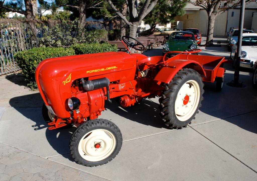 Red Porsche Junior tractor_ side view_all Porsche swap & car display_3/4/12