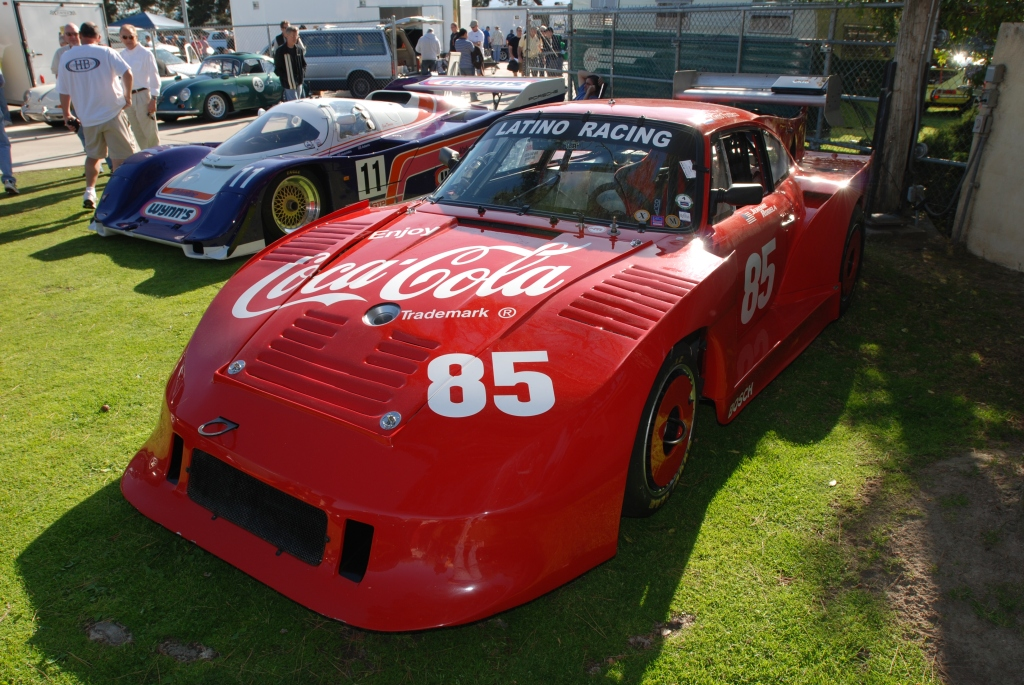 Wynn's Porsche 962 & red Coca-Cola Porsche 935 _all Porsche swap & car display_3/4/12