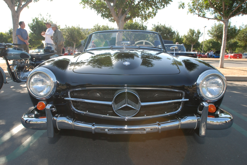 Black 1956 Mercedes-Benz 190 SL roadster_reflections_Cars&Coffee/Irvine_3/10/12