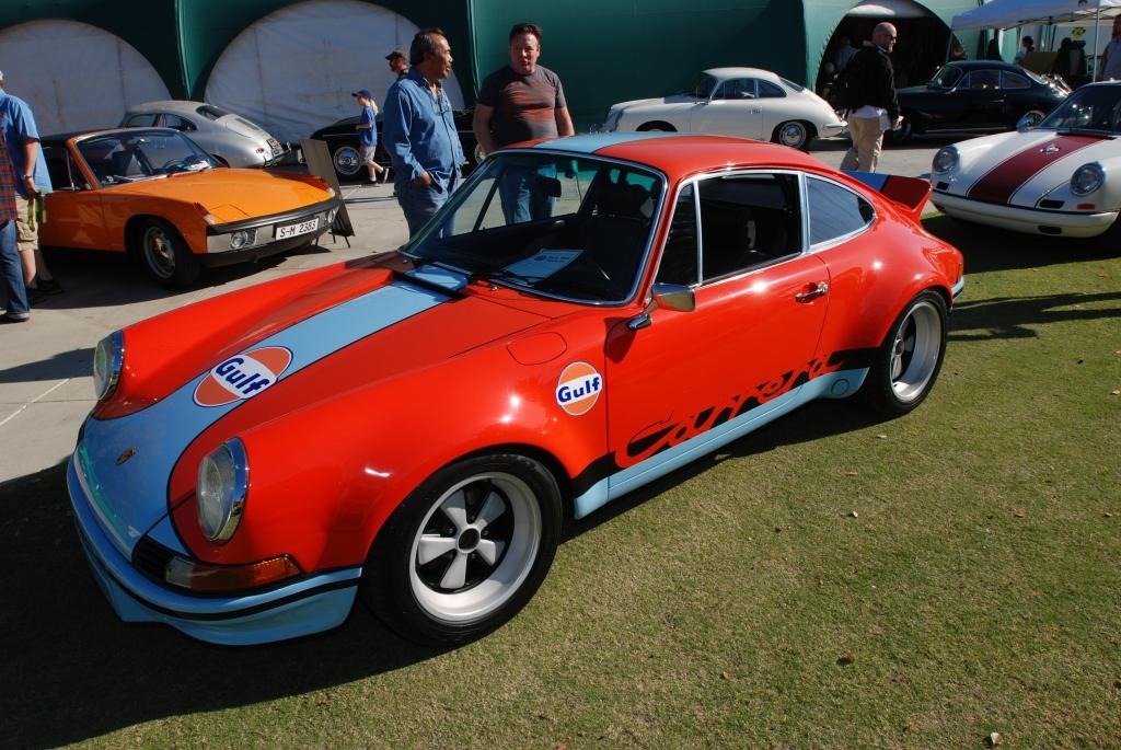 Gulf orange and blue Porsche 911 Carrera RS_3/4 front view_all Porsche swap & car display_3/4/12