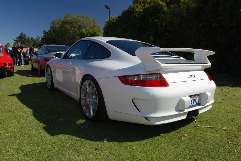White Porsche 911 GT3_3/4 rear view _all Porsche swap & car display_3/4/12